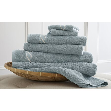 6-Piece Embroidered Egyptian Cotton Towel Set