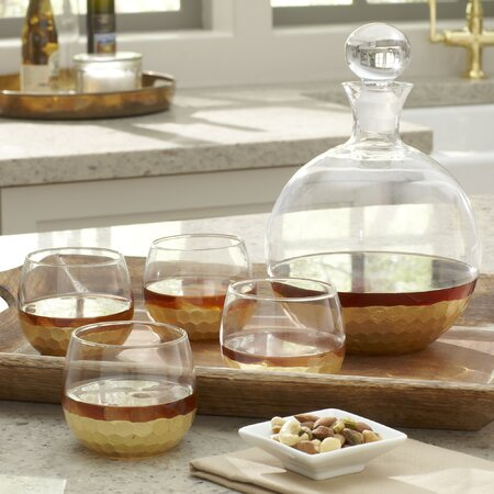 5-Piece Daphne Decanter & Glass Set