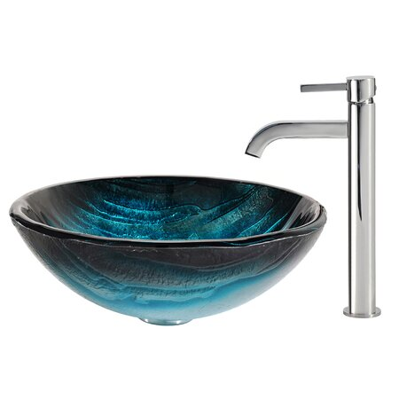 Ladon Glass Vessel Sink & Faucet