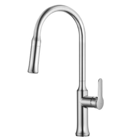 Single Lever Pull-Down Kitchen Faucet in Chrome
