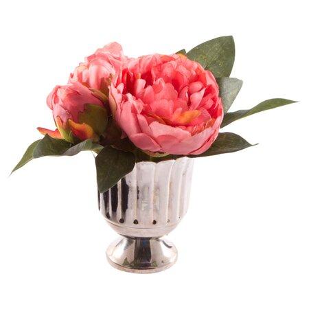 kunstblumen arrangement 39 claudine 39 mit vase in rot. Black Bedroom Furniture Sets. Home Design Ideas