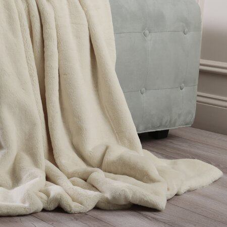 Luxe Faux Fur Throw Blanket