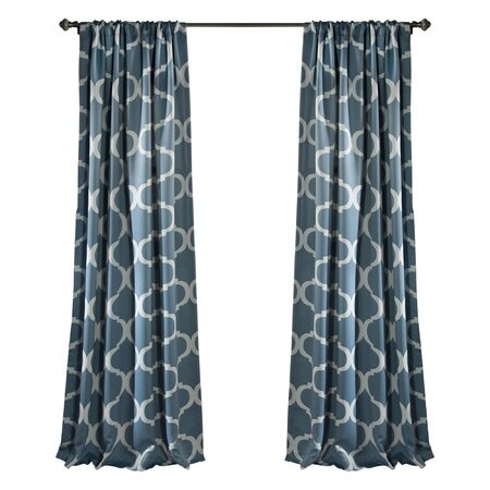 Trellis Pattern Blackout Rod Pocket Curtain Panel (Set of 2)
