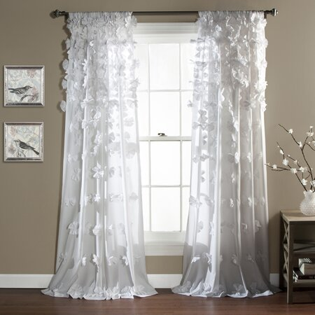 Bow Rod Pocket Curtain Panel