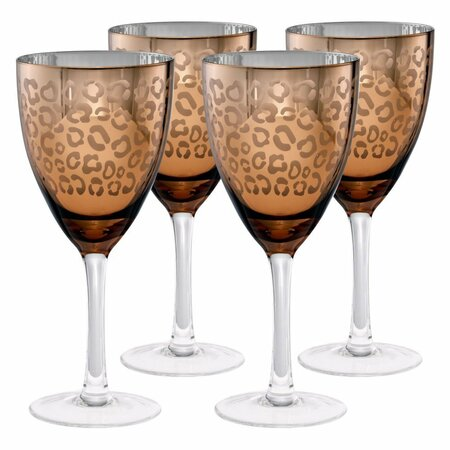 Leopard Wine Glass (Set of 4)