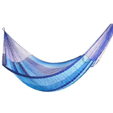 Maya Artists of Yucatan Artisan Hammock in Crimson Sonata