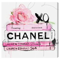 Dripping Rose Books Canvas Print, Oliver Gal
