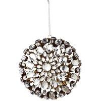 Medallion Clasp Ornament in Silver